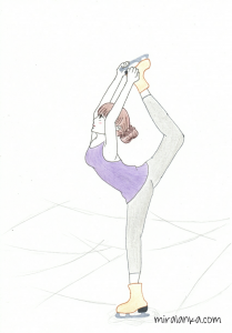 A girl doing figure skating